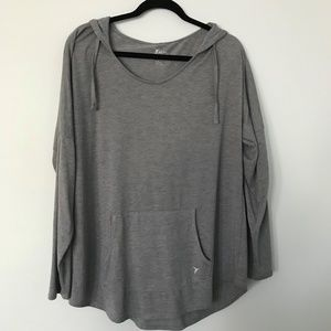 Old Navy Active Gray Lightweight Hoodie Loose Fit
